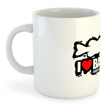 Taza Pesca I Love Bass