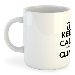 Taza Escalada Keep Calm and Climb