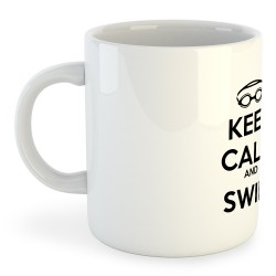 Taza Natación Keep Calm and Swim