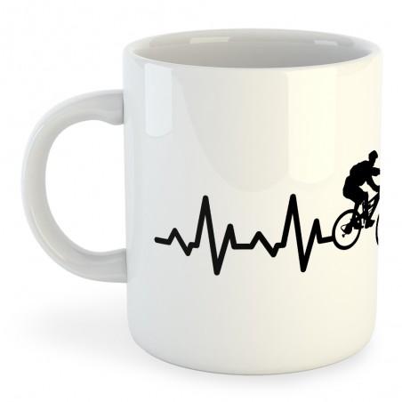 Taza Ciclismo MTB Heartbeat