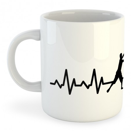 Taza Náutica Fishing Heartbeat