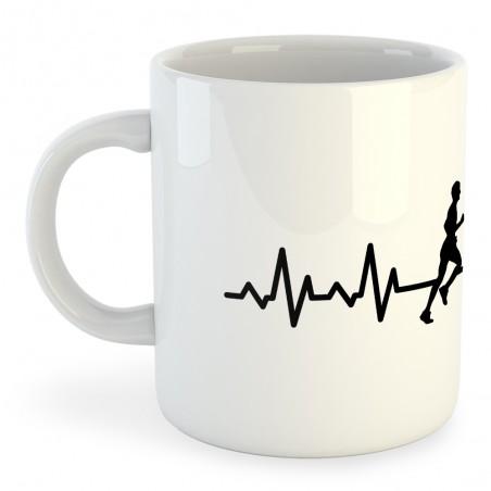 Taza Running Runner Heartbeat