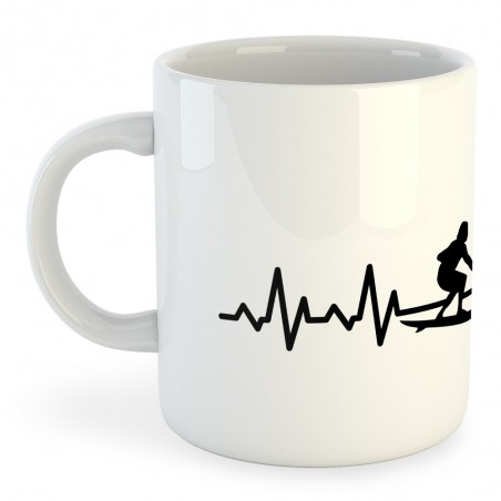 Taza Deportes Extremos Surf Heartbeat