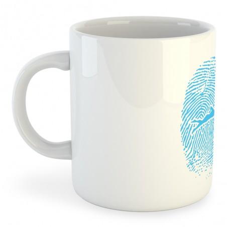 Taza Natación Swimmer Fingerprint