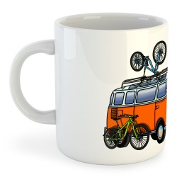 Taza Ciclismo Hippie Van MTB