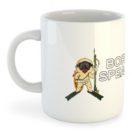 Taza Buceo Born to Spearfish