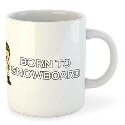 Taza Esquí Born to Snowboard