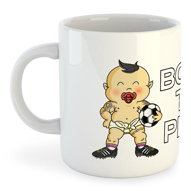 Taza Fútbol Born to Play Football