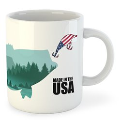 Taza Pesca Made in the USA