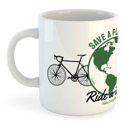 Taza 325 ml Ciclismo Save a Planet