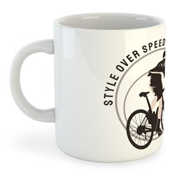 Taza 325 ml Ciclismo Style Over Speed