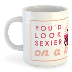 Taza 325 ml Ciclismo Sexier on a Bike