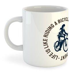 Taza 325 ml Ciclismo Life is Like Riding