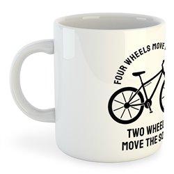 Taza 325 ml Ciclismo Four Wheels Move the Body