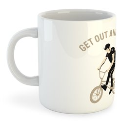 Taza 325 ml BMX Get Out and BMX
