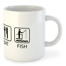 Taza Pesca Sleep Eat and Fish