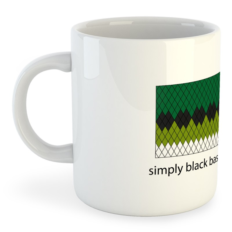 Taza Pesca Simply Black Bass Addicted
