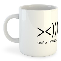 Taza Buceo Simply Diving Addicted