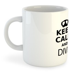 Taza Buceo Keep Calm And Dive