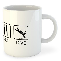 Taza Buceo Sleep Eat And Dive