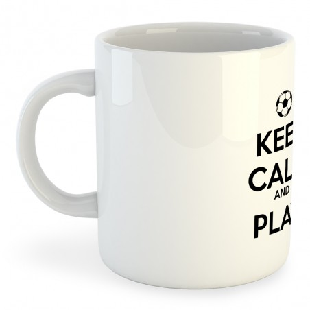 Taza Fútbol Keep Calm And Play Football