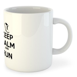 Taza Running Keep Calm and Run