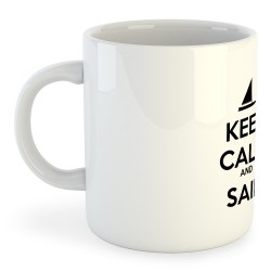 Taza Nautica Keep Calm and Sail