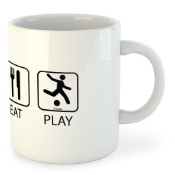 Taza Fútbol Sleep Eat and Play Football