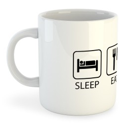 Taza Motociclismo Sleep Eat And Ride