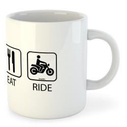 Taza Motociclismo Sleep Eat And Ride