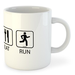 Taza Running Sleep Eat And Run