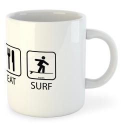 Taza Surf Sleep Eat and Surf