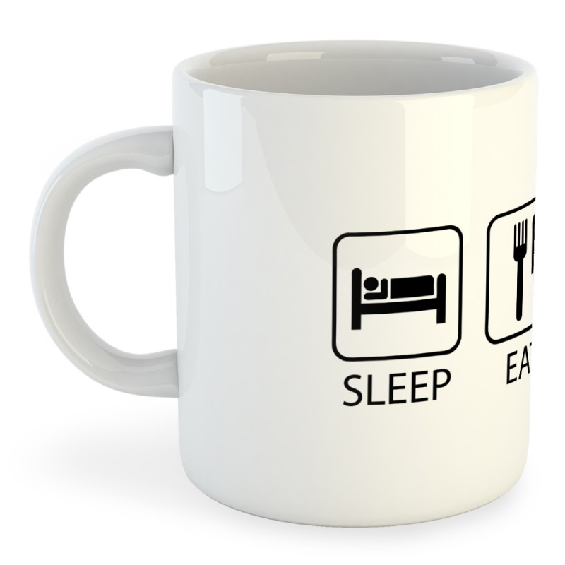 Taza Natación Sleep Eat and Swim