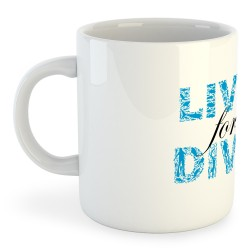 Taza Buceo Live For Dive