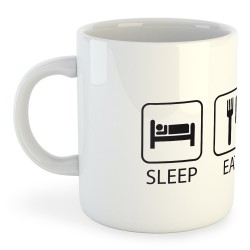 Taza Ciclismo Sleep Eat and Bike