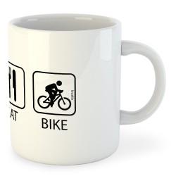 Taza Ciclismo Sleep Eat and Bike