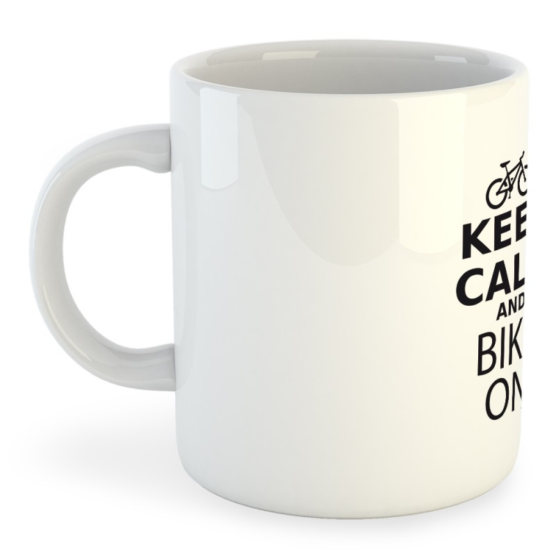 Taza Ciclismo Keep Calm and Bike On