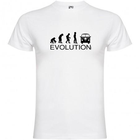 Camiseta Deportes Extremos Evolution Surf California Van Manga Corta Hombre