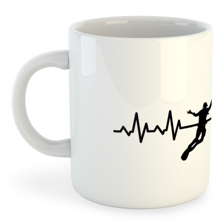 Taza Buceo Diving Heartbeat