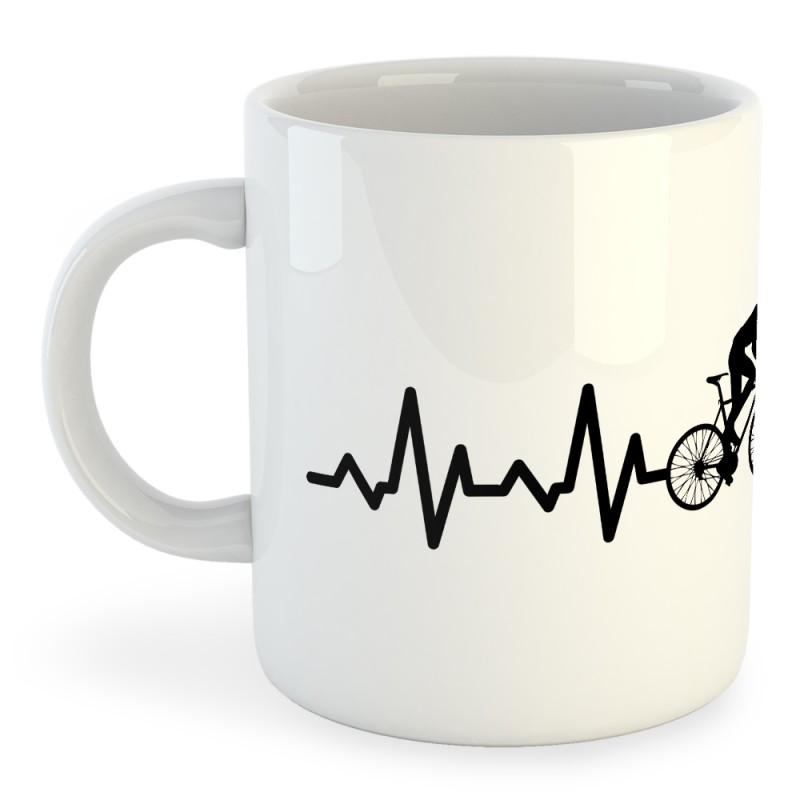 Taza Ciclismo Biking Heartbeat