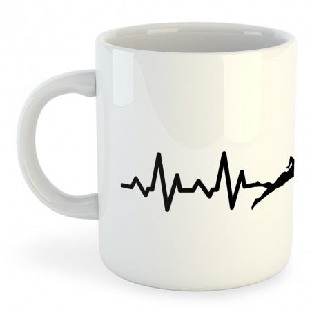Taza Natación Swimming Heartbeat