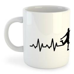 Taza Fútbol Soccer Heartbeat