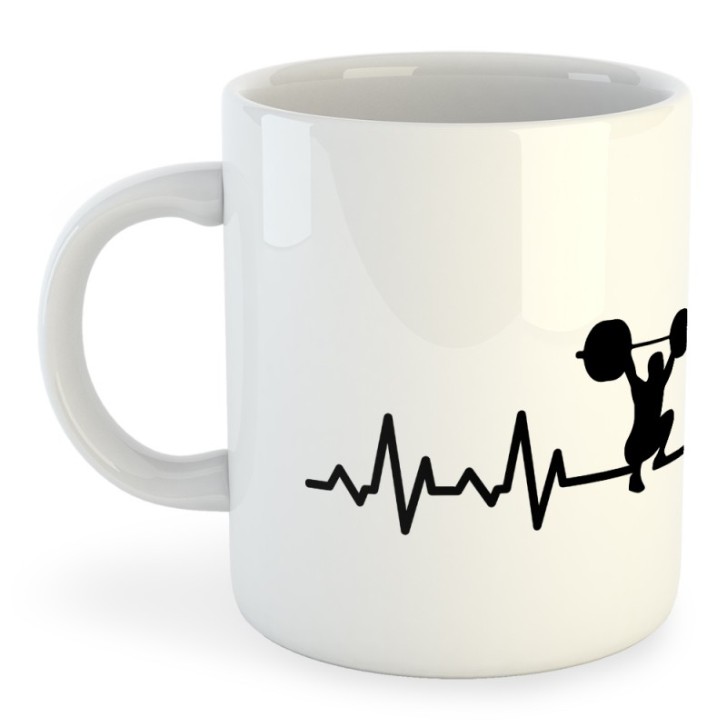 Taza Artes Marciales Fitness Heartbeat