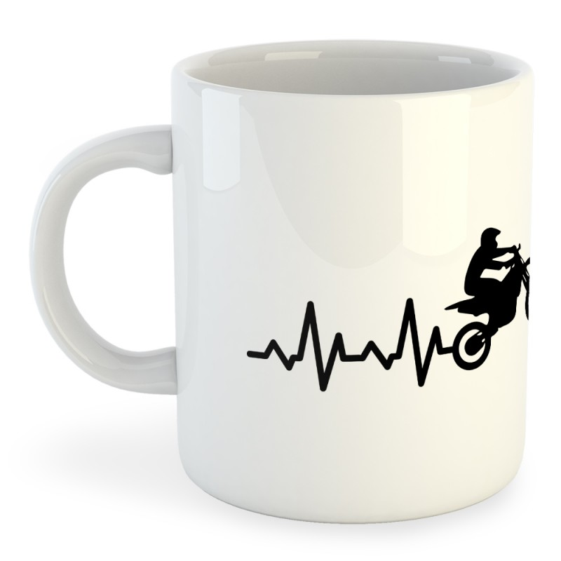 Taza Motociclismo Off Road Heartbeat