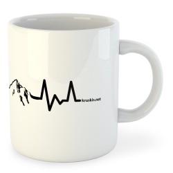 Taza Montañismo Mountain Heartbeat