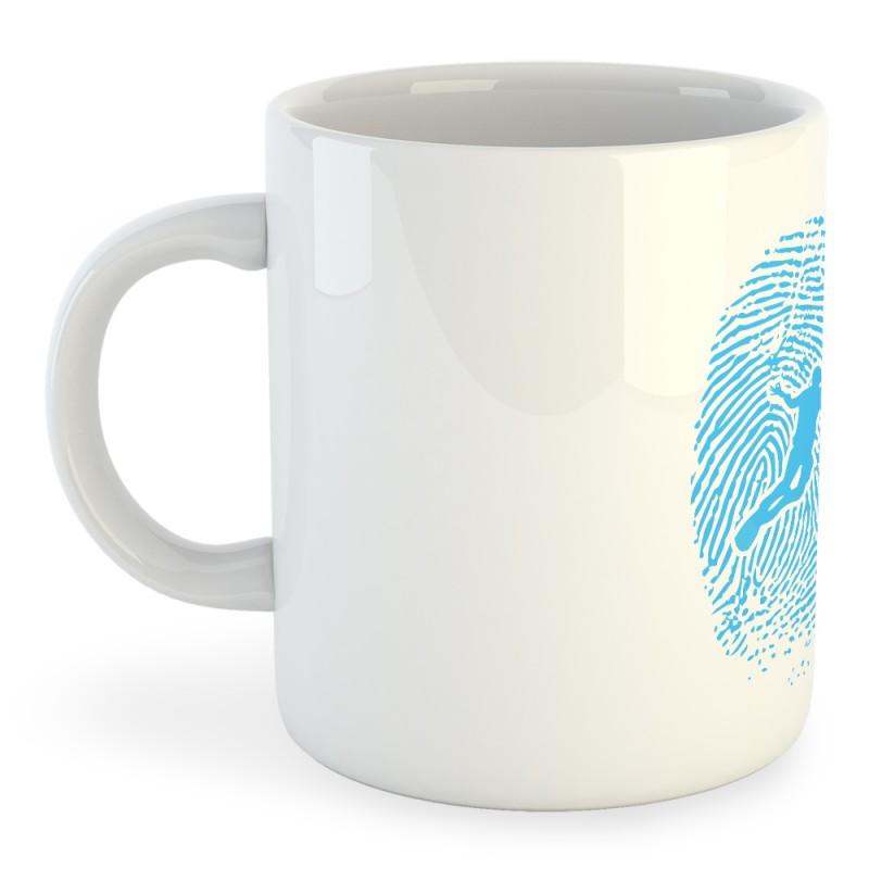 Taza Buceo Diver Fingerprint