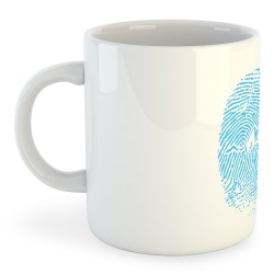 Taza Montañismo Mountain Fingerprint