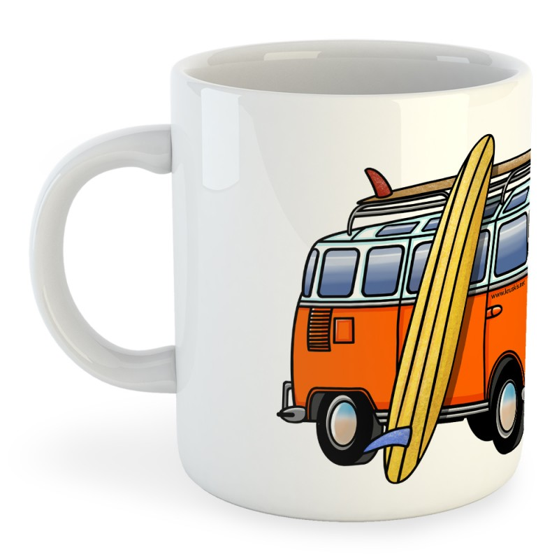 Taza Surf Hippie Van Surf