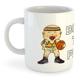 Taza Fútbol Born to Play Basketball